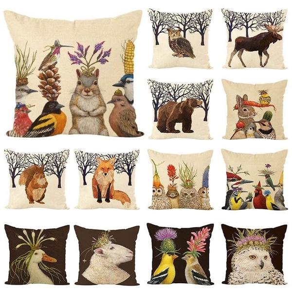 animalpillowcase, Cover, sofapillowcover, Pillowcases