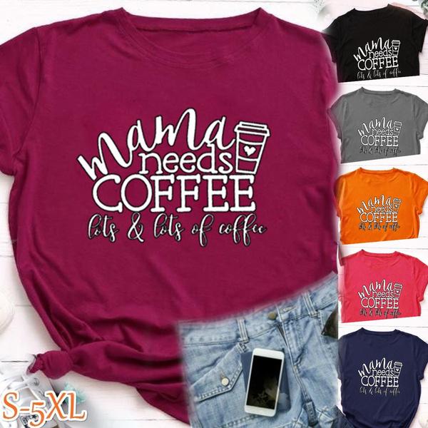 Summer, Coffee, momshirt, short sleeves