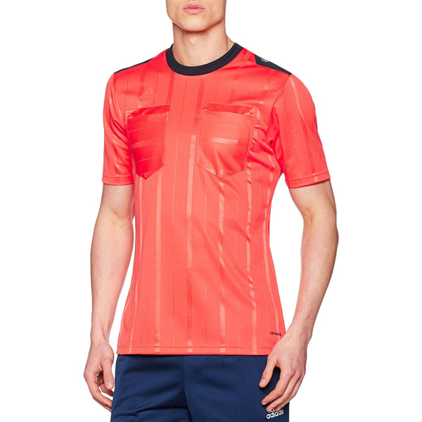 adidas Performance Mens Climacool Short Sleeve UCL Soccer Referee Jersey - Red | Wish