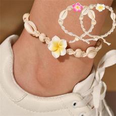 Summer, Flowers, barefoot, Jewelry