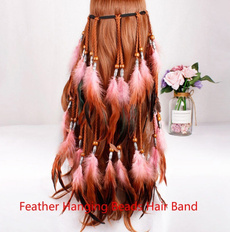 hair, Hairpieces, featherheadband, white