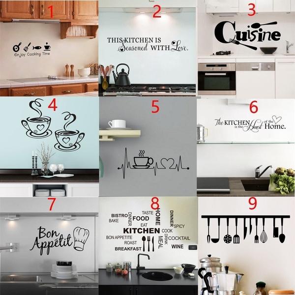 Coffee, art, Home Decor, wallstickerskitchendecor