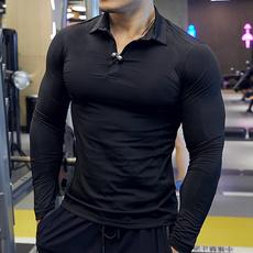 Fashion, fitnessclothe, long sleeved shirt, solidcolortshirt
