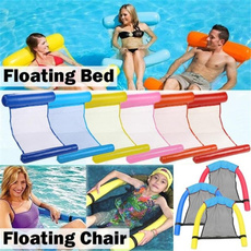 Summer, waterhammock, floatingbed, water