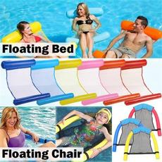 Summer, waterhammock, floatingbed, water