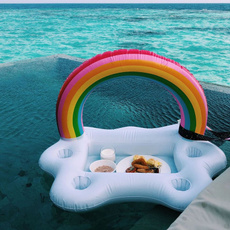 rainbow, beachswimmingring, summerpartybucket, Cup