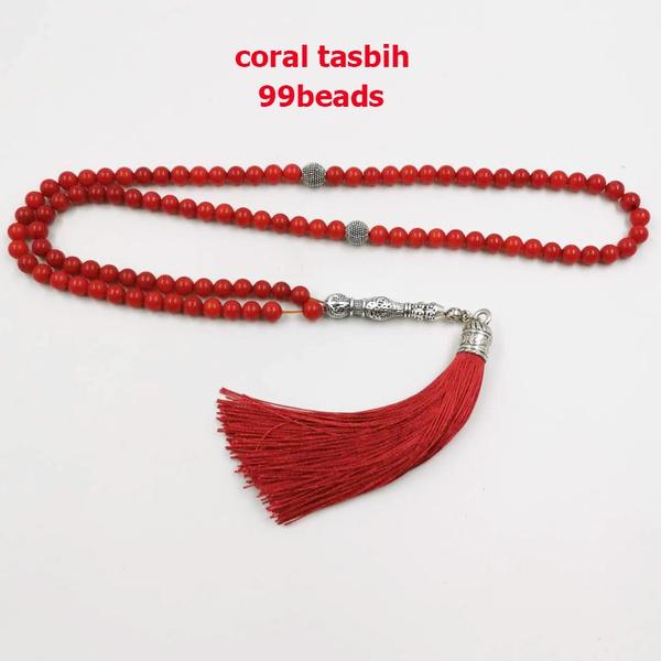 redtasbih, سبحةمرجان, muslimbracelet, 99bead