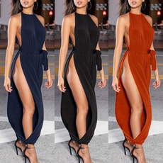 Women Rompers, Fashion, sexy club jumpsuits, Halter