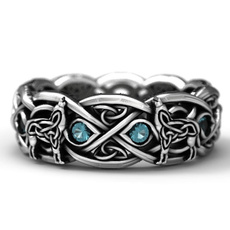 Sterling, Celtic, Engagement, Jewelry