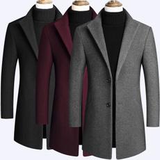 Casual Jackets, Fleece, Men, trenchcoatformen