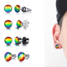 rainbow, Jewelry, Gifts, Stud Earring