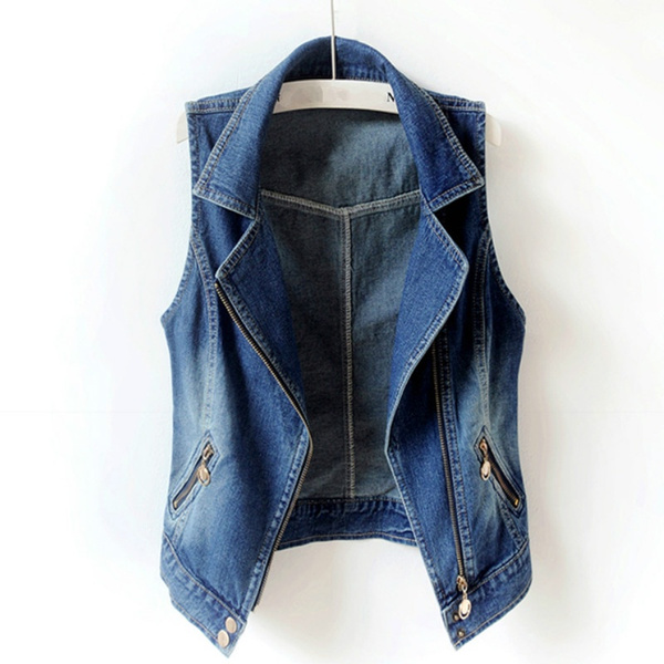 Vest, Fashion, denimgilet, sleevelessjacket