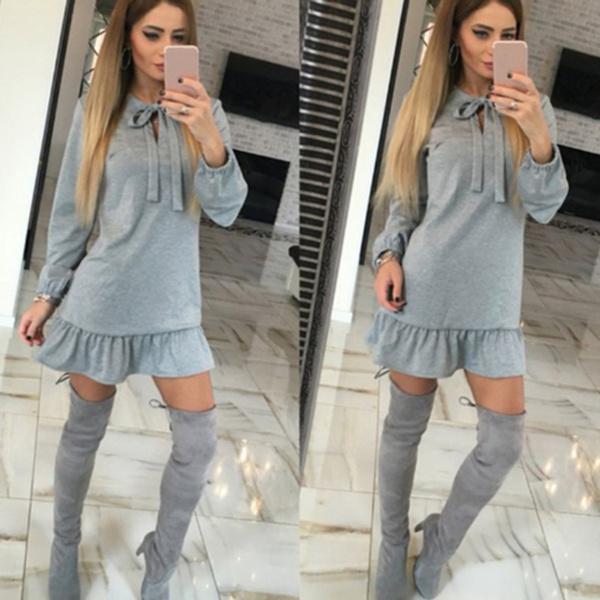 slim dress, Fashion, sleeve dress, woman dress
