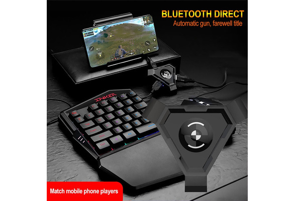 Portable Gaming Keyboard Mouse Bluetooth Converter Phone Holder for Smartphone Maserfaliw Keyboard Mouse Bluetooth Converter Black General Game Essentials