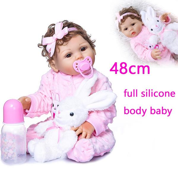pink, Toy, rabbit, realisticbabydoll