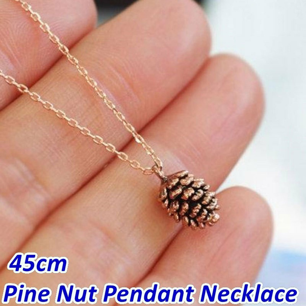 pineconependant, cute, Chain Necklace, pinconependant