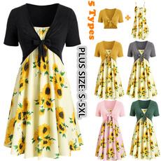 Summer, Fashion, Tunic dress, short sleeves