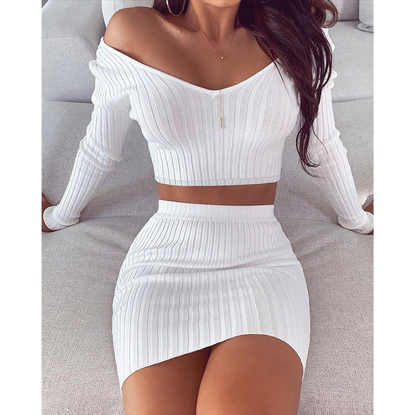 Fashion, crop top, Long sleeved, ribbed