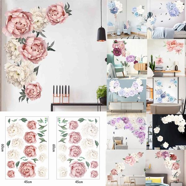 wallpapersticker, art, Home Decor, peony