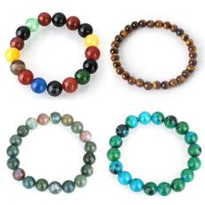 infinity bracelet, Beaded Bracelets, Stone, Jewelry