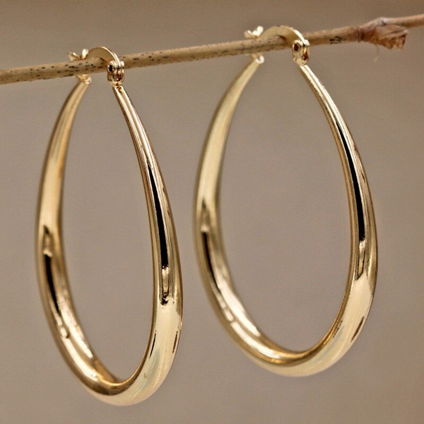 yellow gold, Jewelry, gold, gold hoop earrings