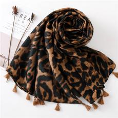 Fashion Scarf, chiffon scarf, animal print, Leopard