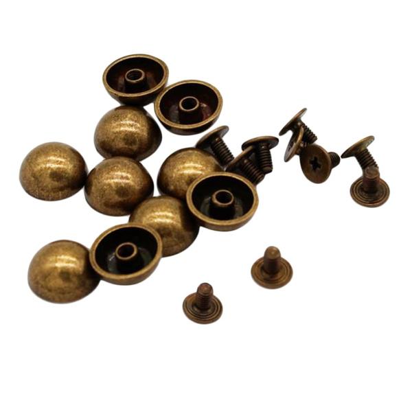 12mm, Stud, Mushroom, leatherdecoration