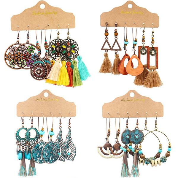 ethnicearring, bohemia, Tassels, bohojewelry