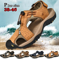 casual shoes, Summer, Outdoor, leather shoes