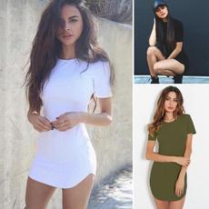 tightdresse, short sleeve dress, Mini, Dress