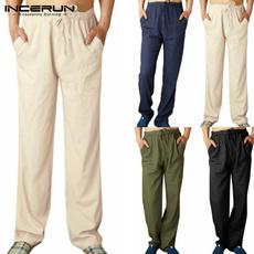 drawstringpant, Plus Size, cottonlinen, Casual pants