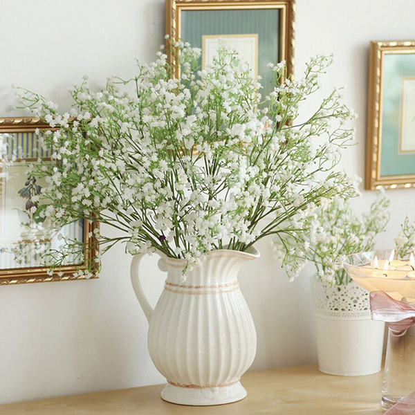 plasticflower, decoration, silkgypsophila, Home