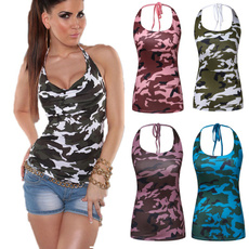 Summer, Vest, Fashion, camouflage tank tops