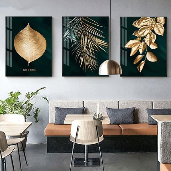 golden, Plants, Wall Art, Home Decor