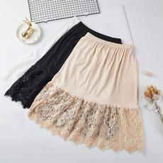 lace trim, halfslip, floral lace, laceunderskirt