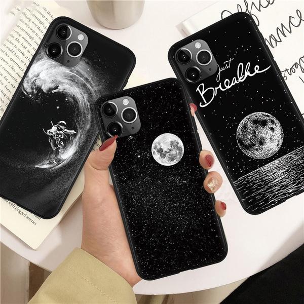 XS Moon Phone Case Wanderlust Art  Cover for 7 8+ S20 A50 Huawei 11 /& Samsung S10 Lite Pro A9 a15 XR Xiaomi Poco X3 A40
