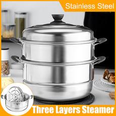 Steel, stewpot, steamingpot, Stainless Steel
