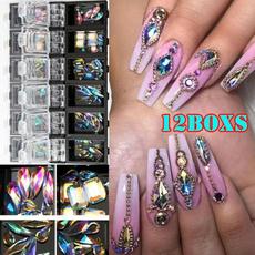 nail decoration, Nails, nail stickers, DIAMOND