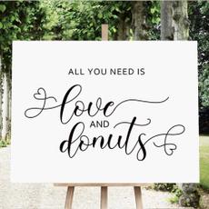 rusticweddingsign, bridalshowerweddingdonutsign, allyouneedisloveanddonutssign, desserttablesign