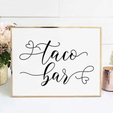weddingsign, weddingtacobarsign, rusticweddingsign, taco