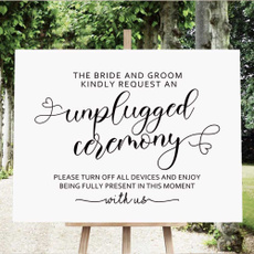 unpluggedweddingsign, weddingwelcomesign, request, weddingsign