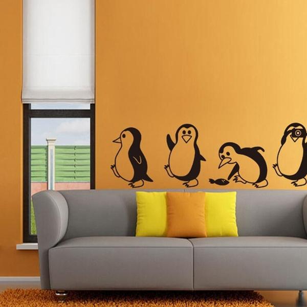 cutelittlepenguinwallsticker, Decor, art, Home Decor