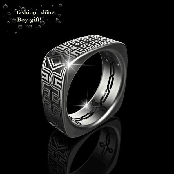 blackgoldring, Sterling, Fashion, wedding ring