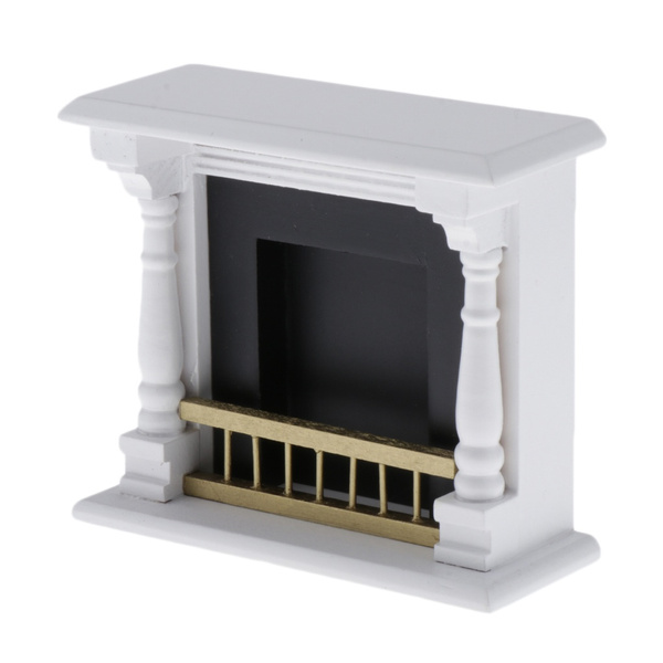 woodenfireplacetvstand, Kids Toy, 112dollhousefireplace, Home & Living