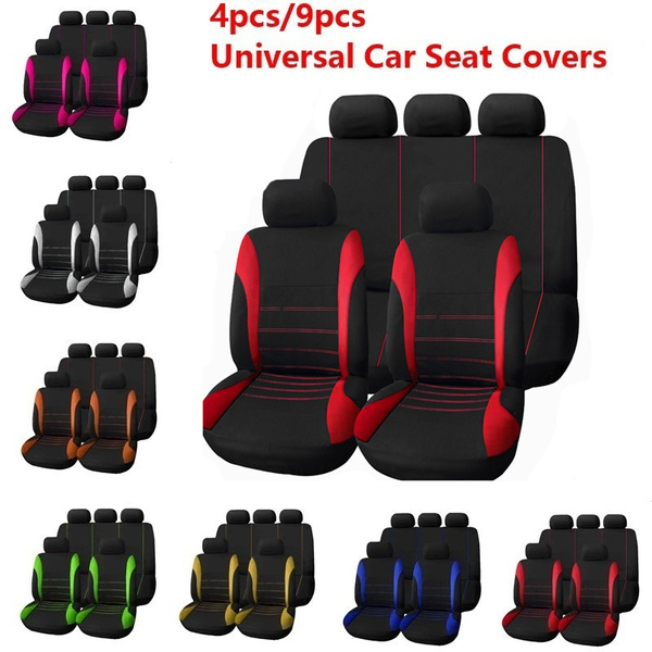 New 4pcs 9pcs Universal Seat Covers For Car Full Set Car Seat Cover Car Cushion Case Cover Front Car Seat Cover Car Accessories Car Seats Car Styling Car Interior Automobiles Green Car Seat Cover
