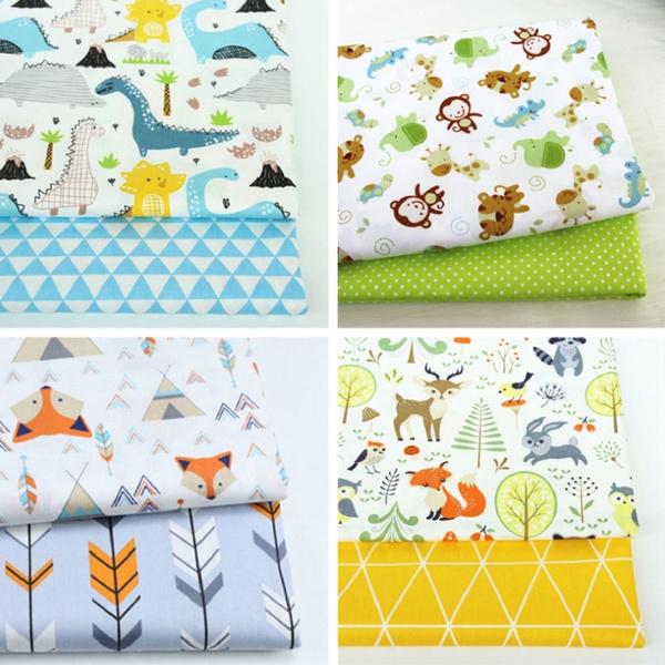 handmadefabric, Cotton fabric, Fox, Quilting