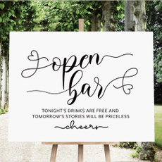 weddingsign, Funny, openbarwarning, receptionbarsign