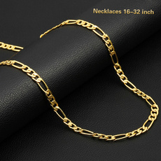 yellow gold, Chain Necklace, mens necklaces, Jewelry