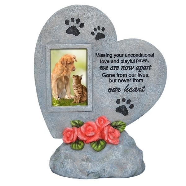 gravestone, memorial, pictureholder, Pets