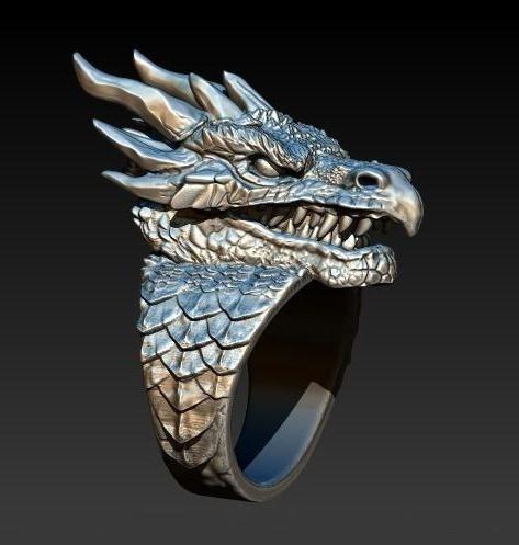 ringsformen, Fashion, 925 sterling silver, dragonring